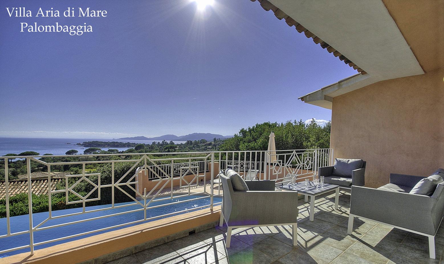 Location villa palombaggia aria di mare villa luxe avec piscine en bord de mer palombaggia for Location villa